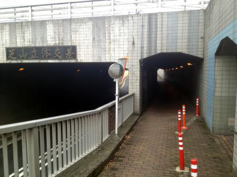 芝山陸橋トンネル