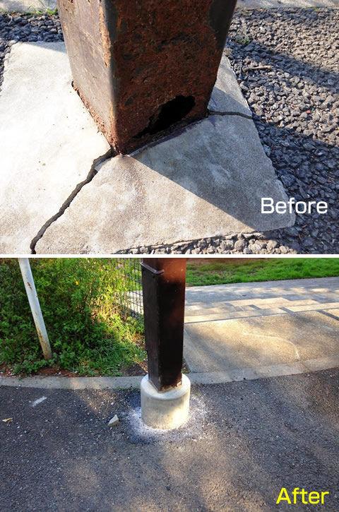街灯柱補修