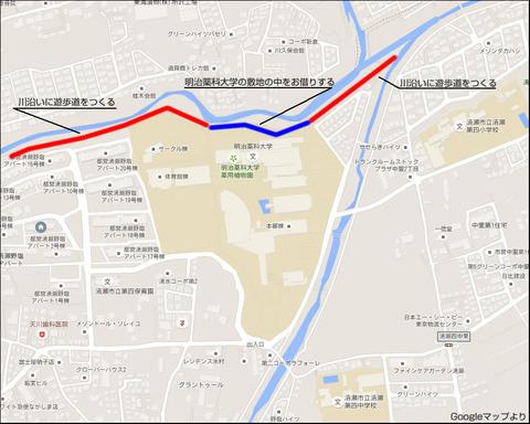 柳瀬川の略図