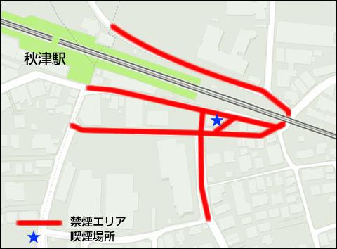 秋津駅周辺MAP
