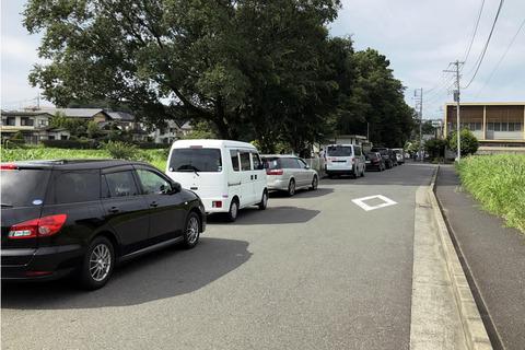 中里団地の路上駐車