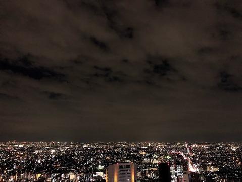 渋谷スクランブルスクエアからの夜景