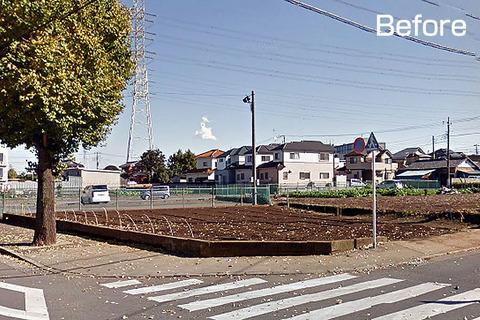 内山サッカー場駐輪場整備