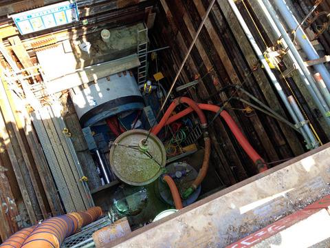 雨水管工事視察