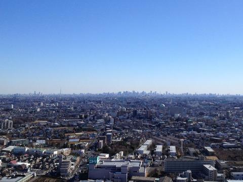 田無タワーから見る都心