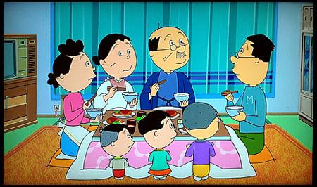 サザエさんちの一家団欒 先日とある食事会に参加した際、とても不愉快なことがあった。それは、よく.