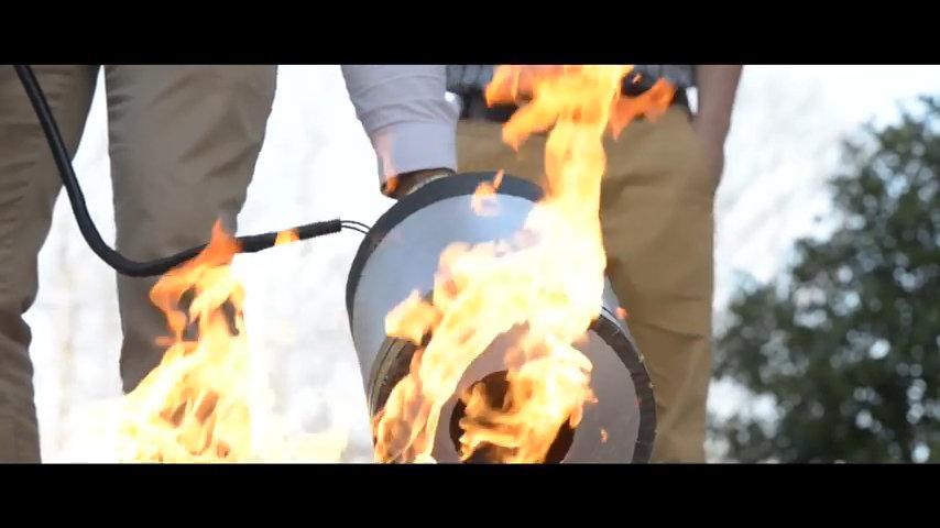音波で火を消す 道具