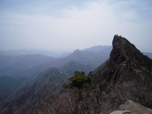 石鎚山頂の景色