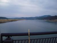 四万十大橋から川を眺めて