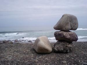 太平洋と石
