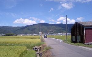法輪寺付近の景色