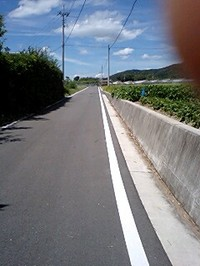 切幡寺への道