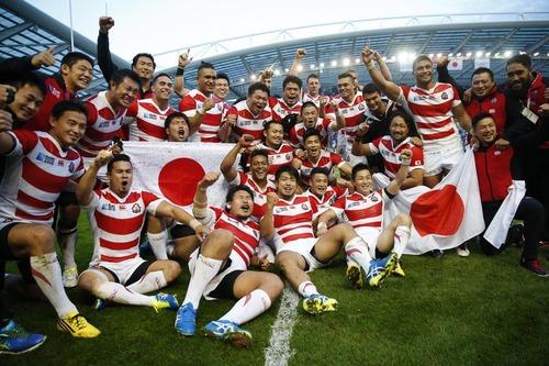 日本代表南アに勝つ