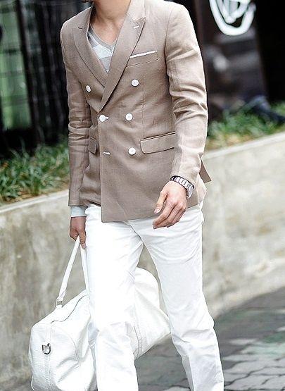 ブラウン ダブルスーツ