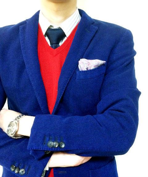 スーツ 赤色