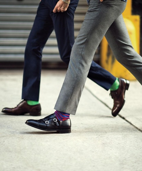 グレースーツ 靴下