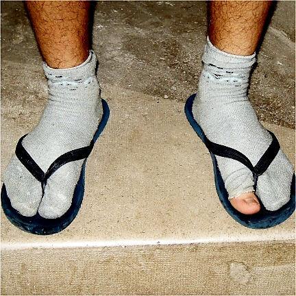 穴あき靴下