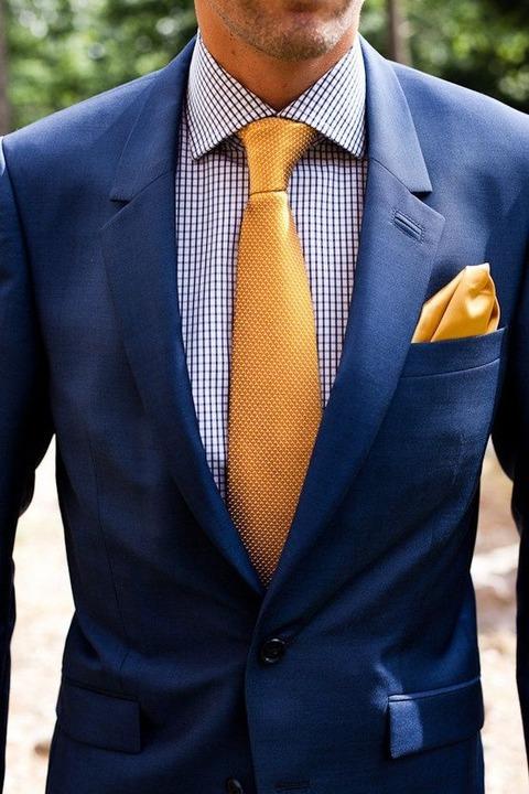 ポケットチーフ 黄色