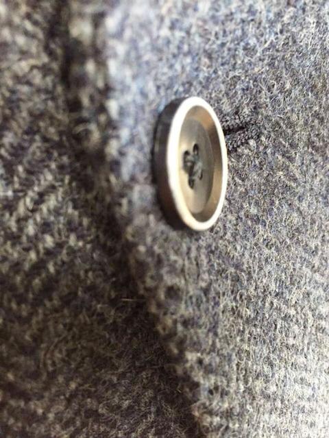 ジャケット 焼ボタン