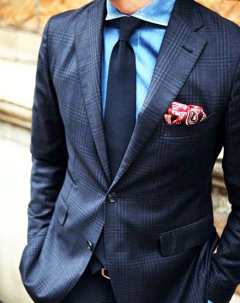 紺シャツ トーンオントーンカラー