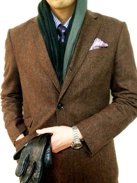 スーツ コート 着こなし