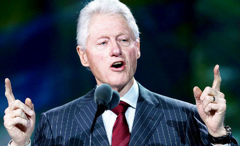 ビルクリントン スーツ着こなし
