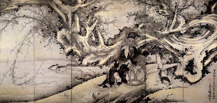 林和靖図屏風(右隻)