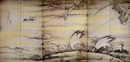 林和靖図屏風(左隻)