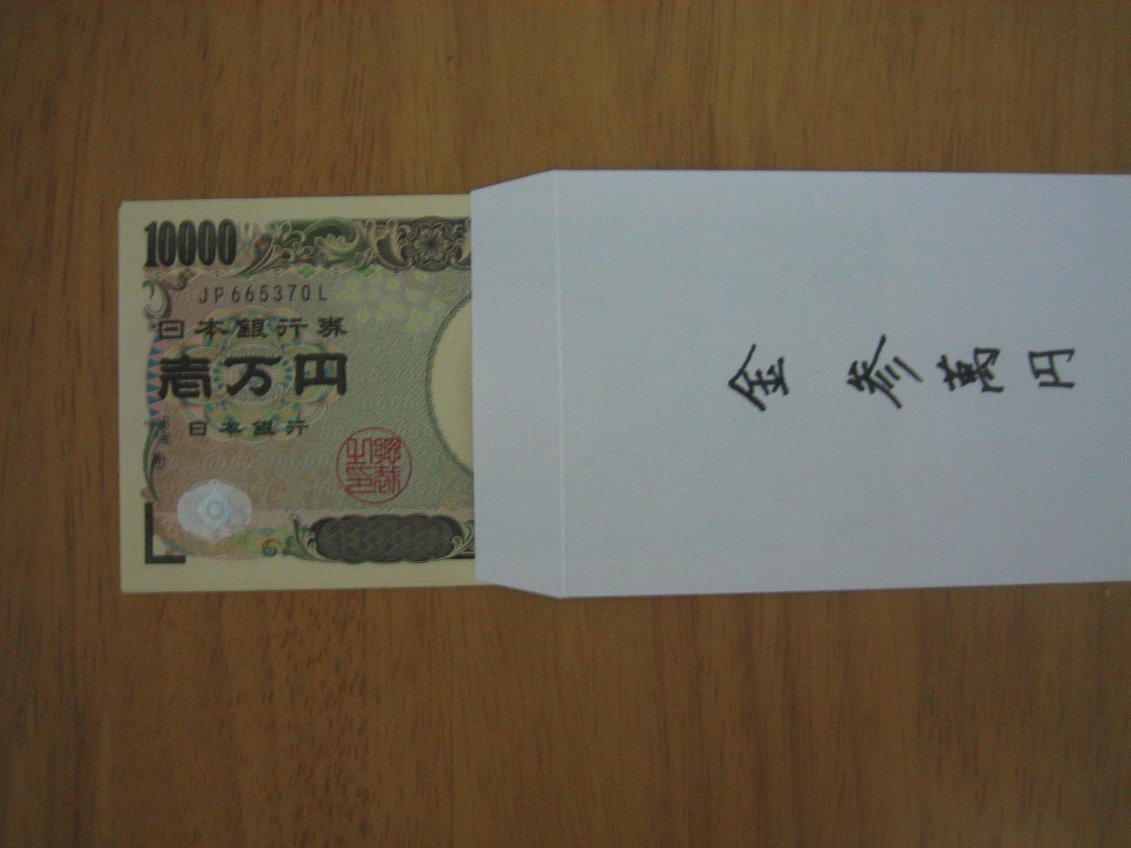お金 御 向き 祝儀 の