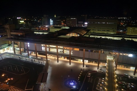 Nagano_Station_Zenkoji_side_in_Night