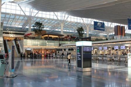 羽田空港国際線ターミナル出発フロア