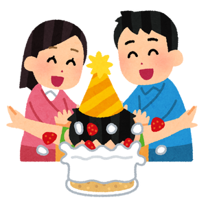 party_birthdaycake_kao_tsukkomu