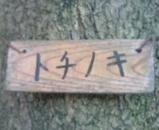 栃の木看板