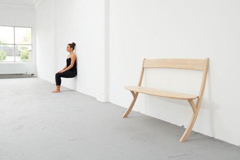 空気椅子なベンチ1