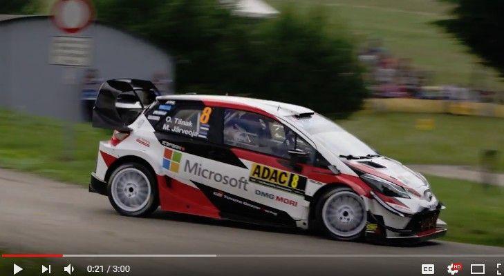 【WRCドイツ】トヨタ・ヤリスWRCのオット・タナクが2連勝!公式ハイライト映像