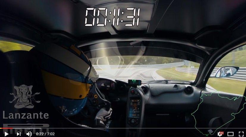 【動画】マクラーレンP1 LMがニュル北最速の座をゲット!まるまる1周フルオンボード映像が公開!!