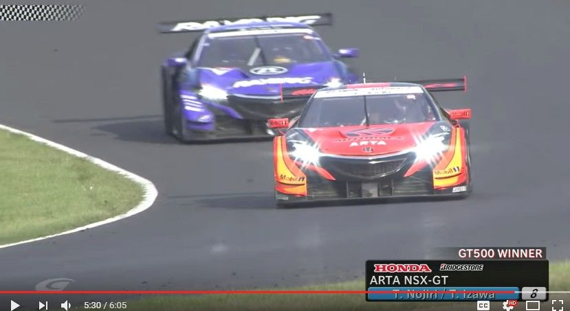 【スーパーGT】第3戦「鈴鹿」は#8 ARTA NSX-GTがポールトゥウィンでホンダが1-2フィニッシュ!公式ダイジェスト映像