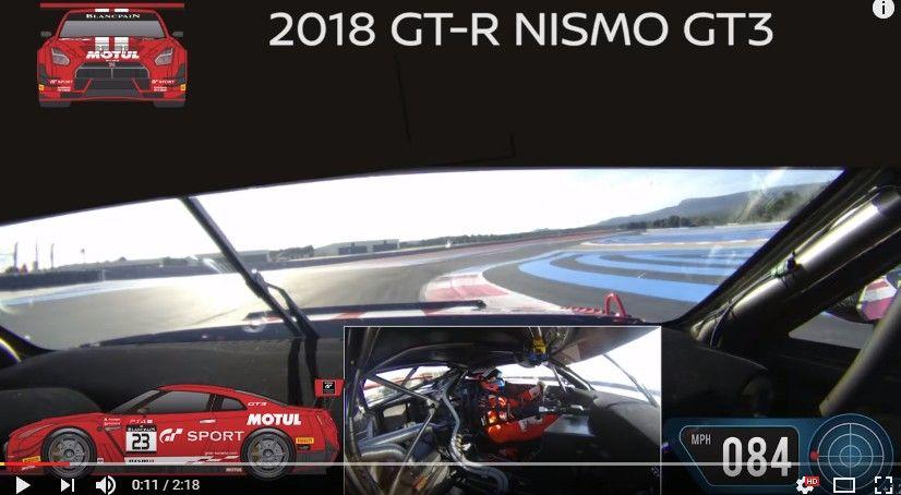 2018年型 日産 GT-RニスモGT3のオンボード映像が公開!ポールリカールでアレックス・バンコムがドライブ