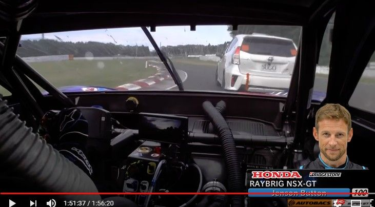 スーパーGT第6戦で優勝した山本尚貴/ジェンソン・バトン組 #100 RAYBRIG NSX-GTの決勝フルオンボード映像が公開