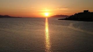 20201025宍道湖大橋からの夕日