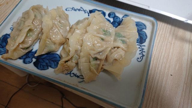 料理下手くそながら餃子作ってみた