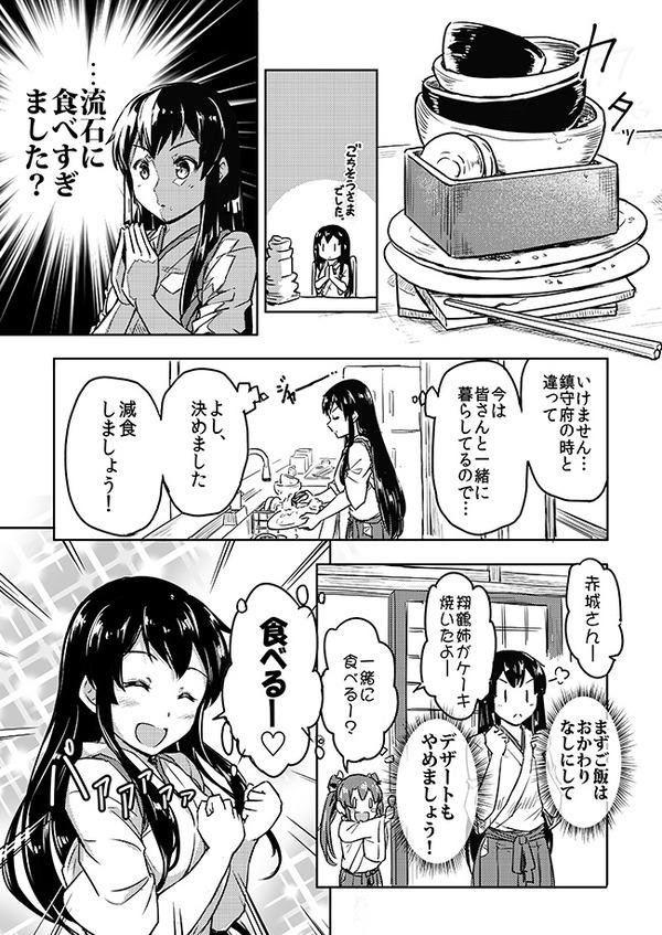 【艦これ】減食を決心する赤城さん 他なごみネタ