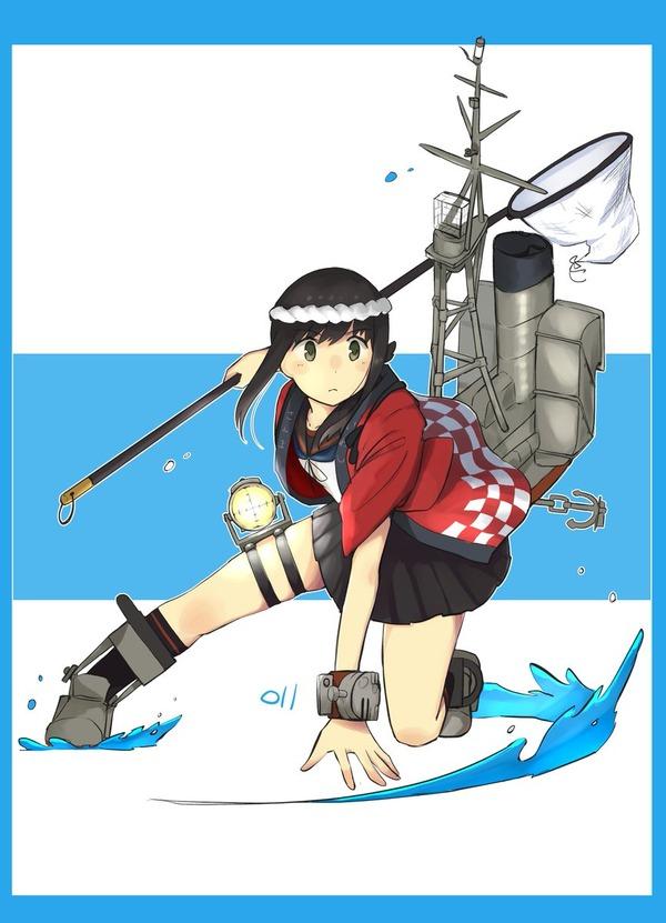 【艦これ】かっこよく秋刀魚を獲る法被吹雪ちゃん 他なごみネタ