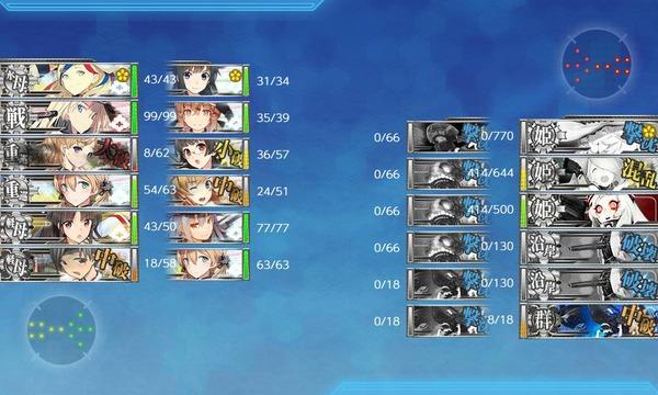 【艦これ】E5-2甲の水上部隊で昼決着・・・だと!? E5-2攻略雑談