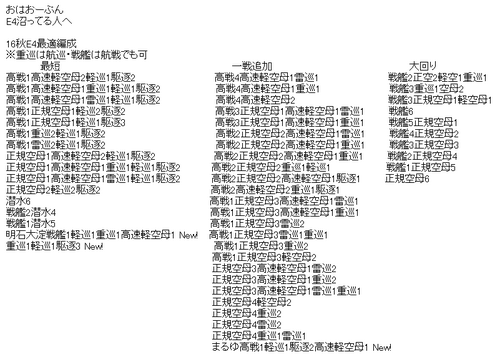 【艦これ】E4殲滅の最適編成って選択肢多すぎない? のサムネイル