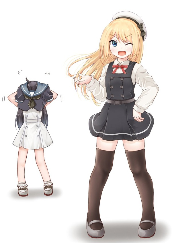 【艦これ】朝潮ちゃんの制服を着たジャーヴィスちゃん 他なごみネタ