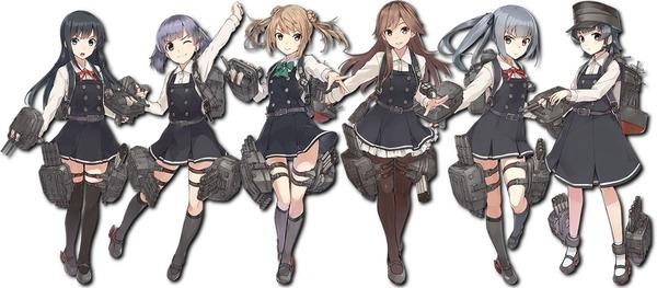 【艦これ】朝潮型の頭良さそうな学校の制服みたいな服良いよね