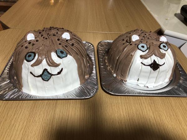 【艦これ】ケーキ屋さんに、ボクカワウソケーキを頼んで作って貰ったケーキがこちら!