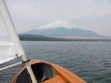富士に向って
