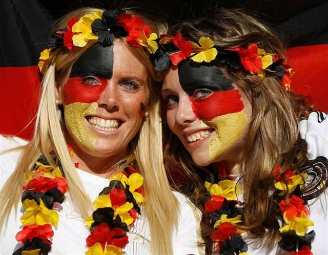 half face world cup german flag tattoo for fans-f48695